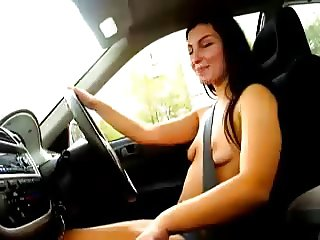 nude girl in car and people can see 4