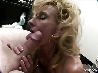 Mature Blonde Sage Gives a BlowJob