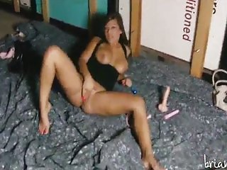 Briana Lee toys double penetration