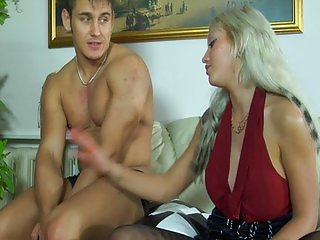 Monica and Hovard strapon sex