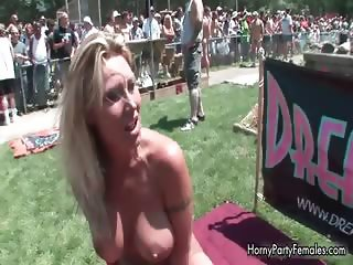 Busty blonde showing her big part6