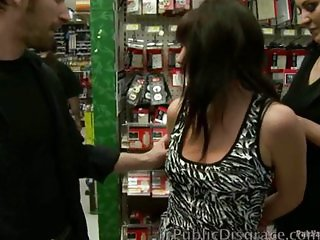 Slut Fucked in Public Store