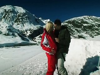 Hot girls fucked in front of snowboarders