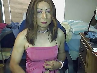 Huge Cock Japanese CD Stoke and Cum