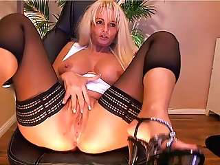 Big tit blonde mature playing on cam - Part II