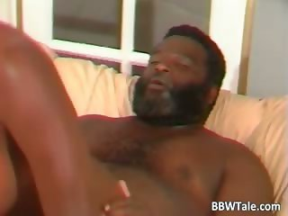 Big black slut rides some black guy part4