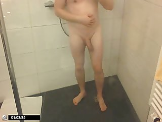 the hotel shower and cum