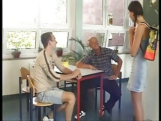 German Teens learn fuck in school Part 2