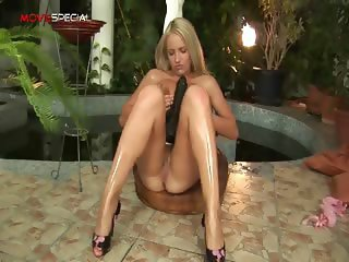 Blonde nasty honey working on a big part5