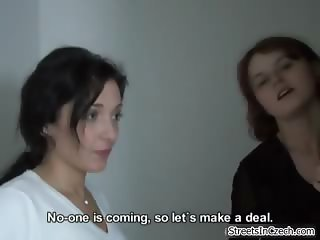 Two horny amateur girls tricked into part3