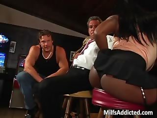 Beautiful busty ebony MILF gets pussy part4