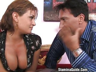 Tory Lane takes a mouthful of cum