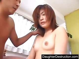 Japanese daughter fucked by dirt daddy