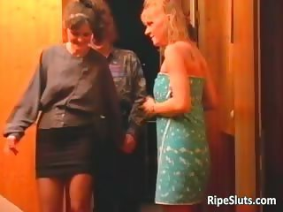 Two horny mature sluts getting wet pussy part2