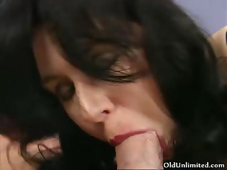 Busty brunette woman gets her horny cunt part4
