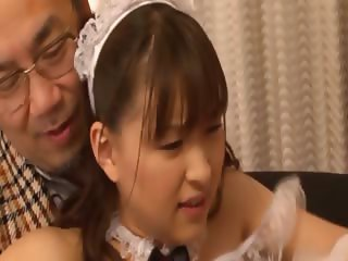 Oral threesome with asian bitchy maiden