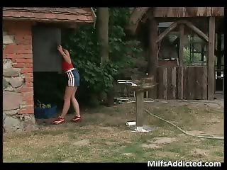 Outdoor hardcore sex with horny brunette part4