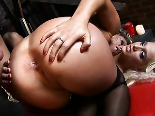 British slut Amy gets fucked in a FFM threesome