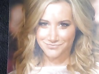Ashley Tisdale's Face Covered In Fucking Cum (Cum Tribute)