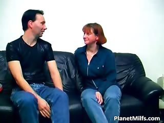 Old and horny slut sucks cock and rides part2