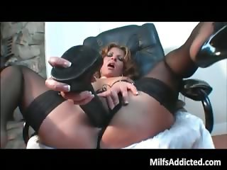 Curly milf slut rides some large cock part5