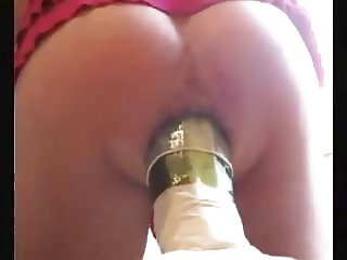 Anal insertion cucumber and bottle