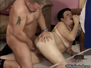 Horny fat woman goes crazy getting part3