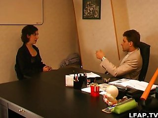 French hairy mature sodomized by her boss