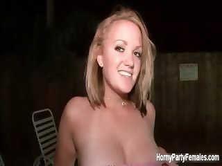 Busty blonde babe gets horny showing off part2