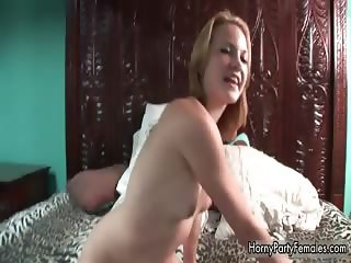 Cute blonde babe boning and massaging part4