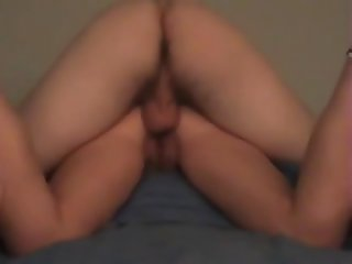 gaping my friend's sister ass hole & creampie it