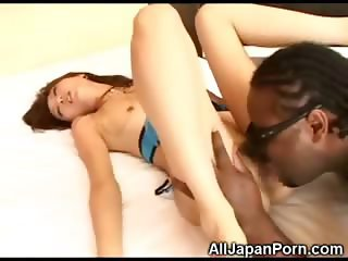 Asian Virgin Met a Black Man!