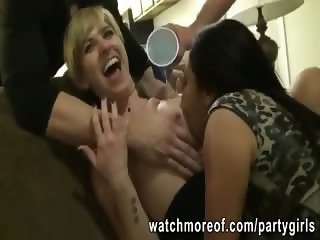 College sluts banged in orgy after party