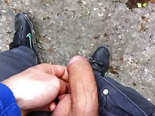 Teen cock in the forest