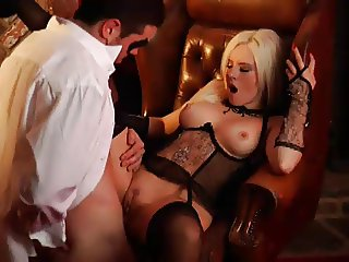 British Slut Syren Sexton gets fucked in stockings