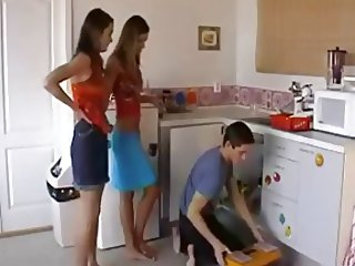 Two girls for a plumber