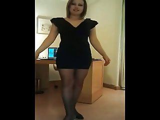Slut makes a striptease