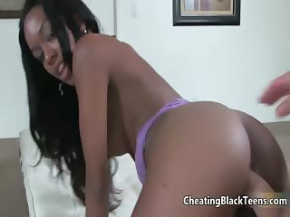 Hot ebony babe gets her cunt fucked part5