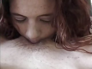 Amateur lesbian girlfriends eat out in cheap motel