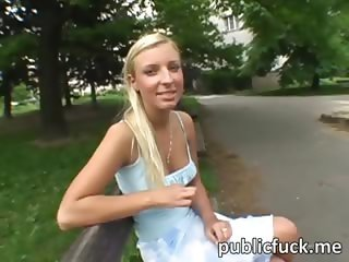 Lovely honey one night stand in public