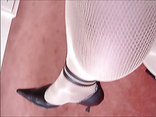 Nadine CD heels and fishnet
