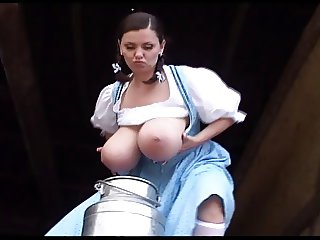 Traditional German milk maid