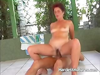 Mature lady Lea fucking hot stud