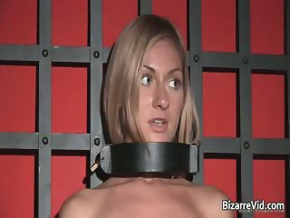 Horny and kinky blond Greta stripping part2