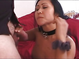 Asian hooker bound and facefucked