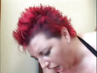 chubby redhead women in anal action