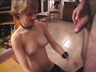 Amateur Mature Eats Cum From Glass 2