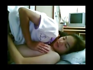 Asian Couple Dorm Room Sex