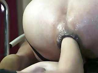 Hard anal play and fist
