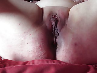 Twenty strapped on pussy of my slave
